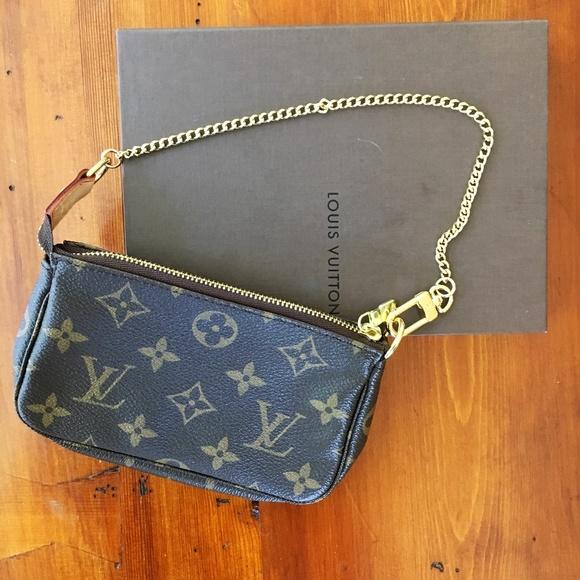 Louis Vuitton Bags   Authentic Nwt Lv Monogram Mini Pochette   Poshmark 3f4a85a603f